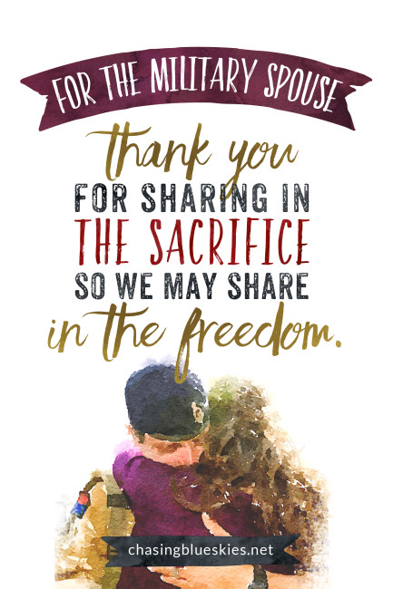 A Blessing for the Military Spouse