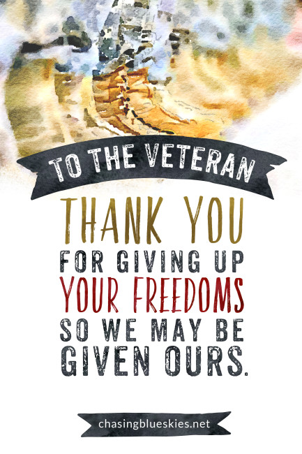 To the Veteran on Veterans Day